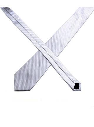 Серый галстук в полоску