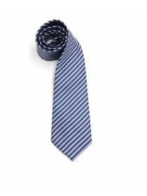 Серый галстук в синюю полоску