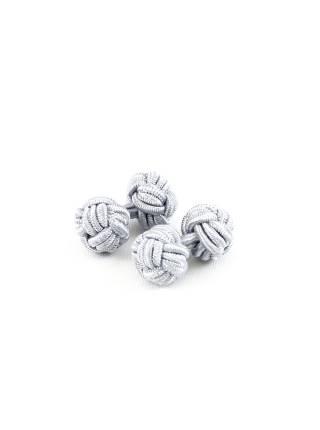 Текстильные запонки-узелки серые