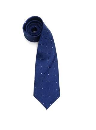 Темно-синий галстук с рисунком волны