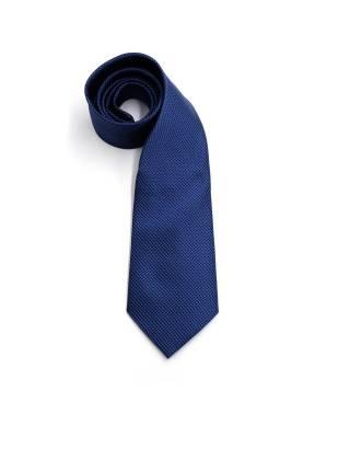 Темно-синий галстук в черный ромб