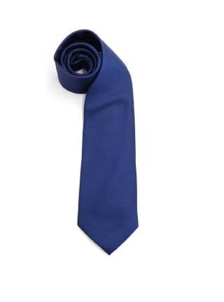 Темно-синий галстук в мелкую полоску