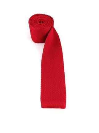 Вязаный галстук темно-красного цвета однотонный