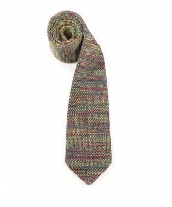 Вязаный галстук зеленого цвета меланж