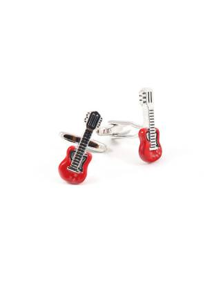 Запонки для рубашки Гитара красная