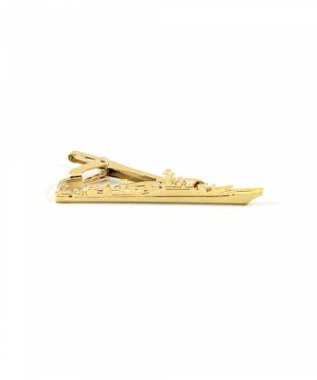 Зажим для галстука Корабль золото