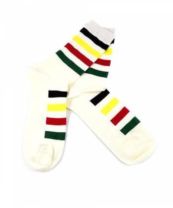 Бежевые носки с разноцветными полосками Baboon