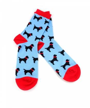 Голубые носки с рисунком собаки Baboon