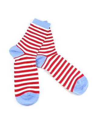 Носки в белую и красную полоску