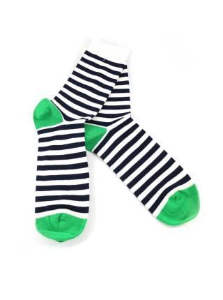 Носки в белую и темно-синюю полоску
