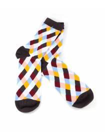Цветные носки в ромб