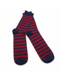 Мужские носки красно-синие в полоску