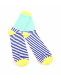 Мужские носки полосатые с желтыми вставками