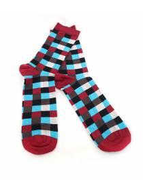 Мужские носки разноцветные в крупную клетку
