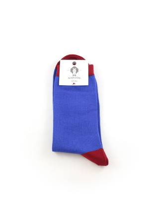 Мужские носки синие с красными вставками