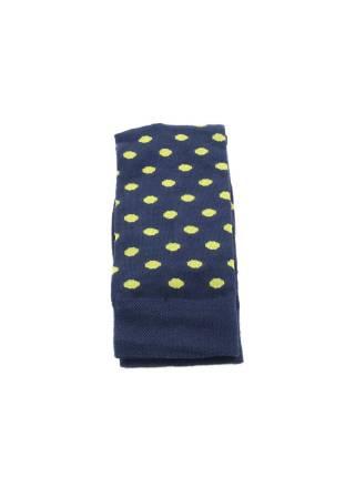 Синие мужские носки в желтый горошек