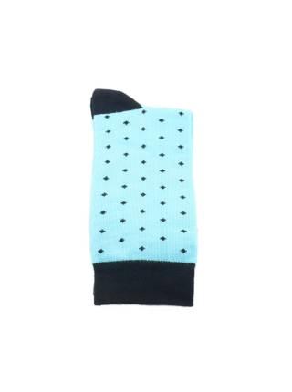 Голубые мужские носки в мелкий синий горошек