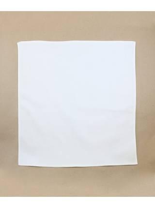 Нагрудный платок белый однотонный из хлопка