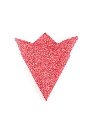 Нагрудный платок красный с эффектом вязаной ткани из хлопка