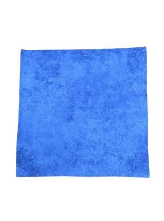 Нагрудный платок голубой однотонный из хлопка