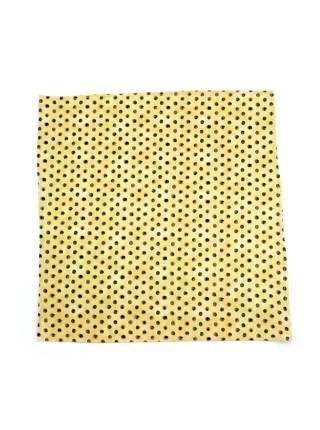 Нагрудный платок желтый в черный горох из хлопка