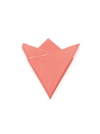 Нагрудный платок красный с рисунком Механизмы из хлопка