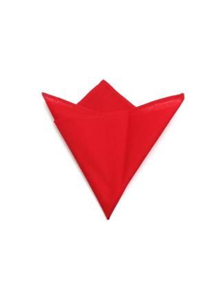 Нагрудный платок однотонный красного цвета из хлопка