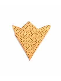 Нагрудный платок оранжевый с рисунком Пауки из хлопка