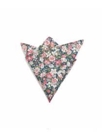 Нагрудный платок с рисунком Бело-розовые цветы из хлопка