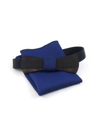 Деревянный галстук-бабочка Slim из Зирикота с платком