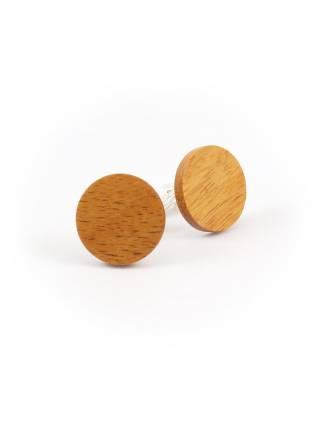 Деревянные запонки Африканская куссия круглые