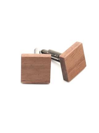 Деревянные запонки из Американского ореха квадратные