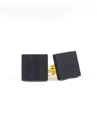 Деревянные запонки Венге квадратные
