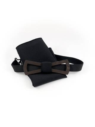 Деревянный галстук-бабочка Армстронг Slim Fresh с платком