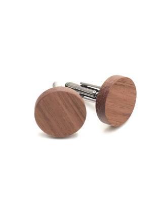 Круглые деревянные запонки из Ореха