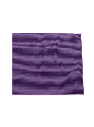 Нагрудный платок фиолетового цвета в черную полоску