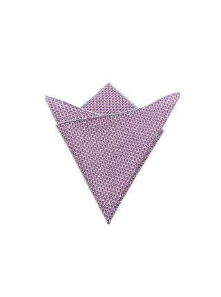 Нагрудный платок фиолетовый с синим орнаментом из хлопка