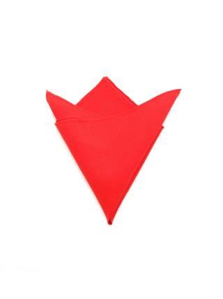 Нагрудный платок красный однотонный из полиэстера