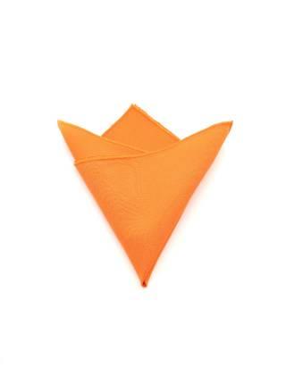 Нагрудный платок оранжевый однотонный из полиэстера