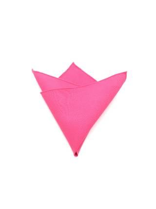 Нагрудный платок розовый однотонный из полиэстера