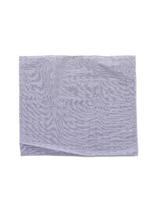 Нагрудный платок синего цвета в горошек