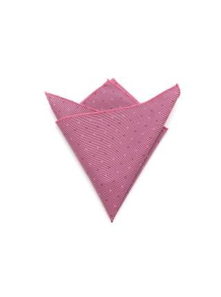 Нагрудный платок сиреневого цвета в горошек