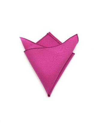 Нагрудный платок цвета фуксия однотонный из полиэстера