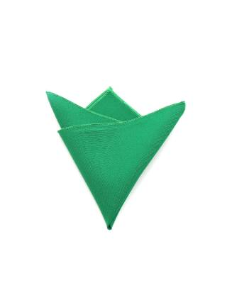 Нагрудный платок зеленого цвета однотонный