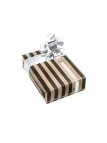 Подарочная упаковка Классика в черную полоску
