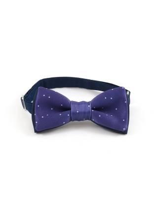 Детский галстук-бабочка фиолетовый в белую крапинку