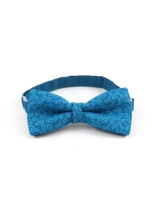 Детский галстук-бабочка голубой с орнаментом