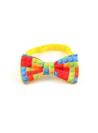Детский галстук-бабочка с рисунком Lego