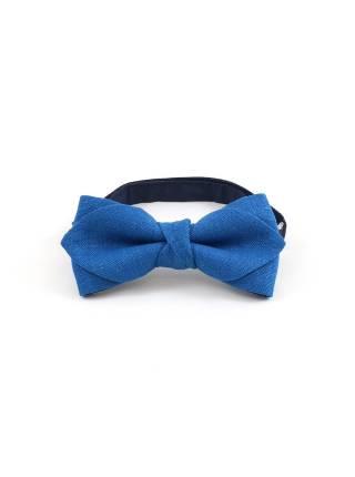 Детский галстук-бабочка темно-синий однотонный