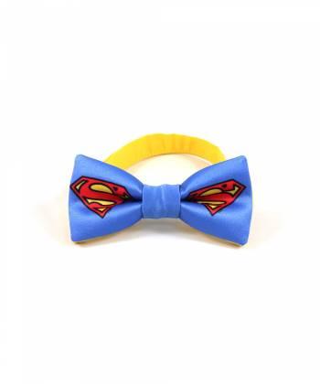 Детский галстук-бабочка синий с рисунком Супермен / Superman YAKUT
